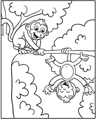 monkey coloring pages print funny coloring
