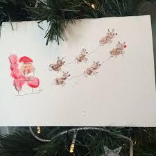 fingerprint reindeer card craft for toby and roo