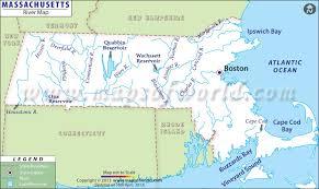 Massachusetts rivers images Massachusetts rivers map jpg