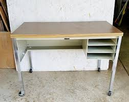Metal Desk Vintage Vintage Childs Desk Etsy