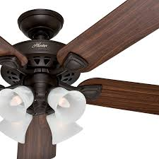 Light Fans Ceiling Fixtures 52 Traditional Bronze Finish Ceiling Fan With 4 Bulb Light