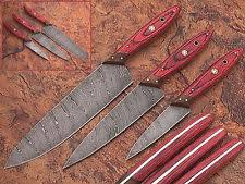 custom made kitchen knives damascus chef knife custom manufactured ebay