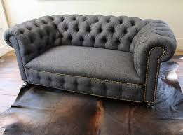 Linen Chesterfield Sofa by English Chesterfield Loveseat At 1stdibs