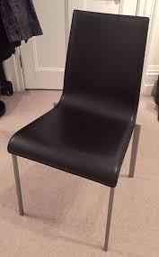 Ergonomic Dining Chairs Mint Condition Ergonomic Black Leather Ligne Roset Zoe Dining