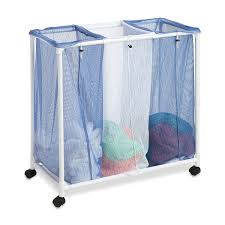 Laundry Divider Hamper by Amazon Com Honey Can Do Hmp 01628 Mesh Laundry Sorter Rolling 2