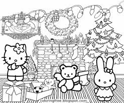 Lets Coloring Book Cute Hello Kitty Christmas Printable Girls Hello Tree Coloring Page