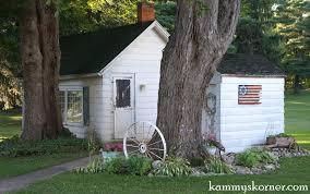 Landscaping Around House by Kammy U0027s Korner Landscaping Around My Garden Shed