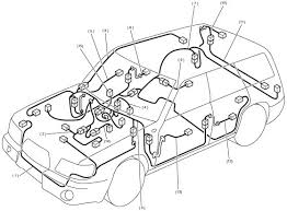 2004 subaru forester wiring diagram and cable routing