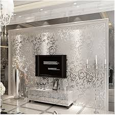 silver grey wallpaper amazon co uk