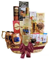 wine and chocolate gift basket gogh moscow mule gift set wine globe