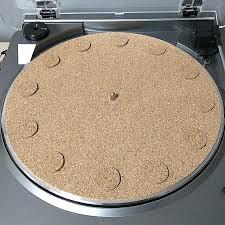 platter mat turntable cork decoupling vinyl slipmat platter mat 6mm