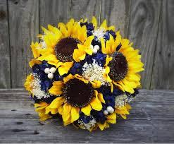 sunflower wedding bouquet sunflower bouquet navy sunflower bouquet bridal bouquet