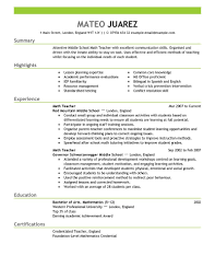 a exle of a resume exle resume for teachers best resume and cv inspiration