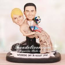 patriotism and culture theme wedding cake toppers