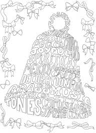 download christmas bell coloring u2013 stamping