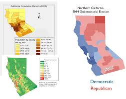 california map population density minnesota and northern california political or political