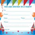 printable birthday invitation cards printable birthday invitation