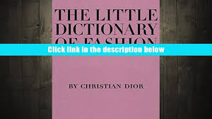 free download the little dictionary of fashion a guide to dress