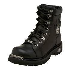 men s motorcycle boots harley davidson men u0027s diversion skull lace up motorcycle black