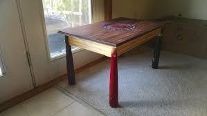 custom made baseball bat coffee table by elson woodwork