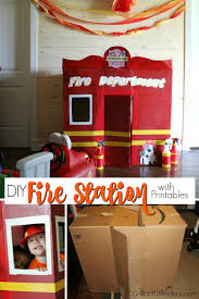 diy fire station with printables brilliant little ideas