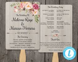 Program Fan Template Diy Wedding Program Fan Template Bohemian Floral Wedding Programs