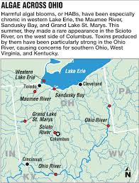 Map Of The Ohio River by Scientists Algae Not Just Toledo Problem The Blade