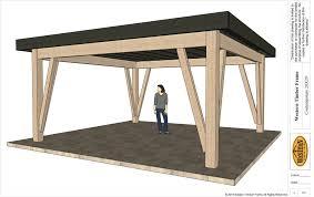 new contemporary 20x20 diy timber frame pavilion plan western