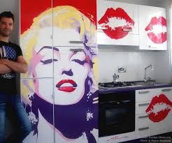 kitchen mural ideas marilyn pop kitchen mural