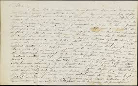 letter in french to j p bradley from his brother samuel bradley