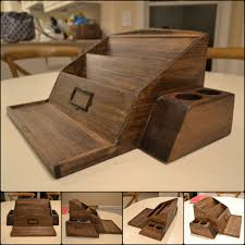 wooden poplar desk organizer woodworking projects pinterest