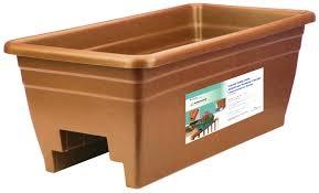akro mils lawn u0026 garden deck rail planter set of 2 ebay