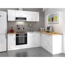 cosy cuisine cuisine equipee blanc laque 5 indogate cuisine noyer gris clair