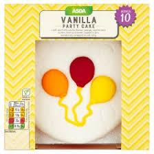 asda vanilla party cake asda groceries