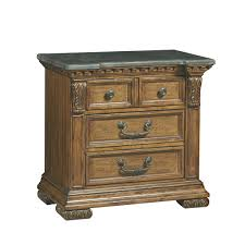 pulaski stratton nightstand w blue stone top 737140 usa