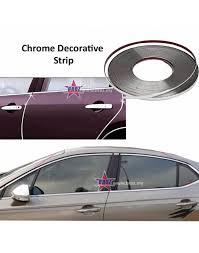 Car Decoration Accessories Silver Car Decor Door Chrome Moulding Trim Strip Auto Body Window