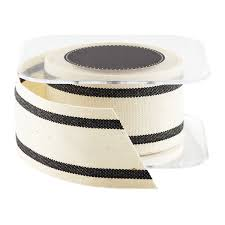 cotton ribbon black wide striped cotton ribbon the container store