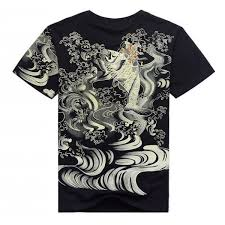 fish yakuza t shirt japanese tattoo streetwear hip hop swag design