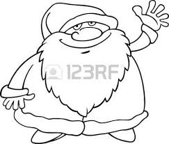 cartoon illustration funny santa claus papa noel
