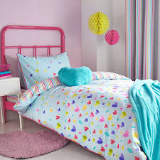 Dunelm Mill Duvet Covers Kids Scattered Hearts Duck Egg Throw Bed Linen Duvet And Linens
