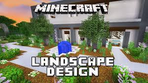Modern House Furniture Minecraft Minecraft Tutorial Landscape Design With Fountain Modern House