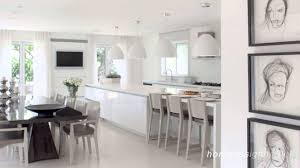white interior design in modern sea shell home israel design hd