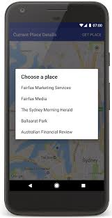 select current place and show details on a map google maps