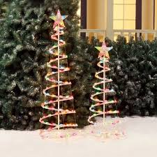 Walmart Christmas Tree Decorations Holiday Time 3 U0027 And 4 U0027 Lighted Spiral Christmas Tree Sculptures