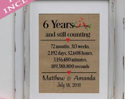 6th anniversary gifts for him 6 years married gift etsy