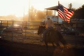 American Flag Sunset Cowboy Cowgirl Horse Wallpaper And Background
