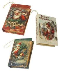 Christmas Book Ornaments - bethany lowe christmas decorations tagged
