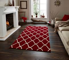 wave design hand tufted 100 wool rug contemporary home decor