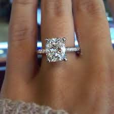 thin band engagement ring 46 best cushion cut engagement rings images on cushion