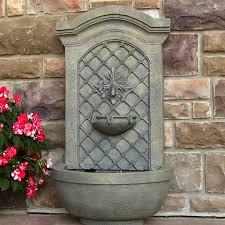 solar wall fountains outdoor 100 images sunnydaze rosette